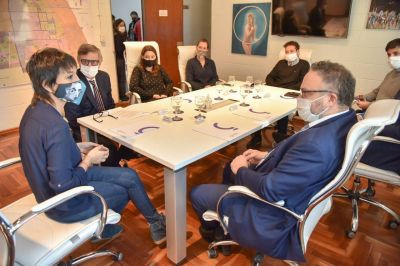 Mayra Mendoza y Matías Kulfas dialogaron sobre situación de empresas y comercios de Quilmes