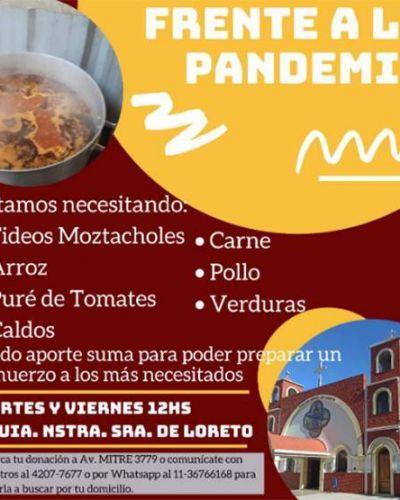 La Parroquia Nuestra Señora de Loreto de Domínico prepara almuerzos para los más necesitados