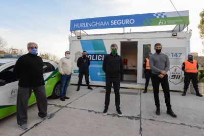 Hurlingham: Zabaleta inauguró la novena posta policial del distrito