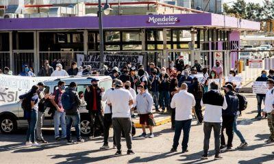 Trabajadores de Mondelez volvieron a protestar en rechazo a las 500 suspensiones y rebajas salariales
