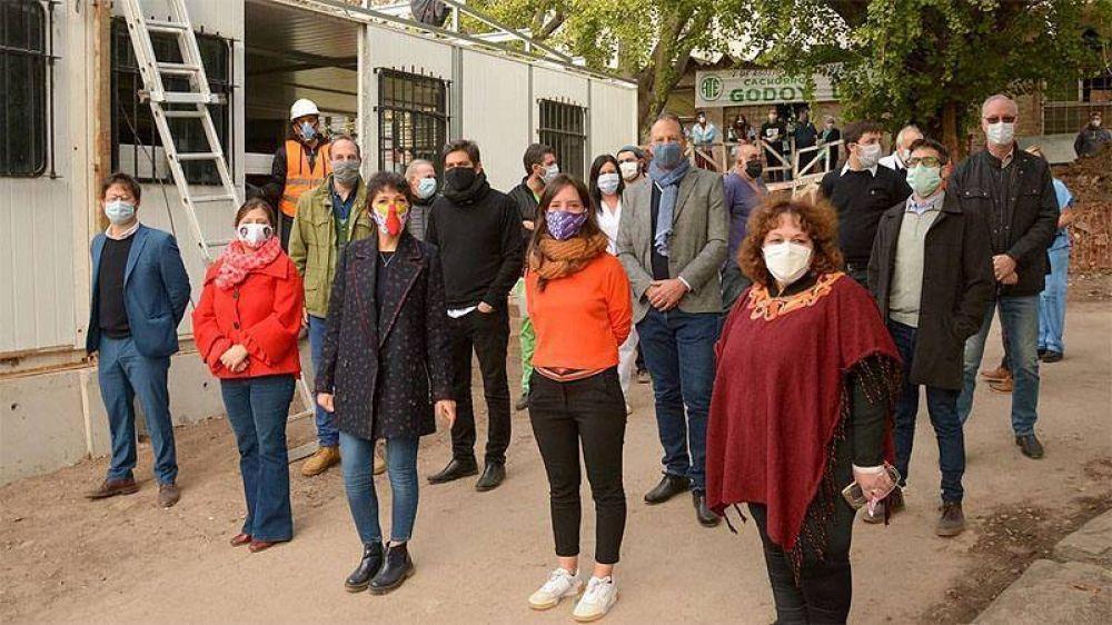 La Provincia amplía el Hospital Iriarte y pone en marcha una planta de producción de oxigeno en Quilmes