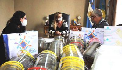 Cañuelas,  Rotary y la Escuela Técnica donaron elementos de protección