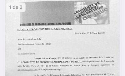 Laboralistas le piden a la Superintendencia que derogue la Resolución que creaba listas negras de abogados