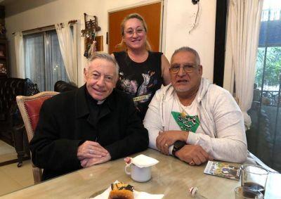"""""""Pata"""" Medina recibió a Monseñor Aguer: """"Me dio fuerzas para seguir adelante"""""""