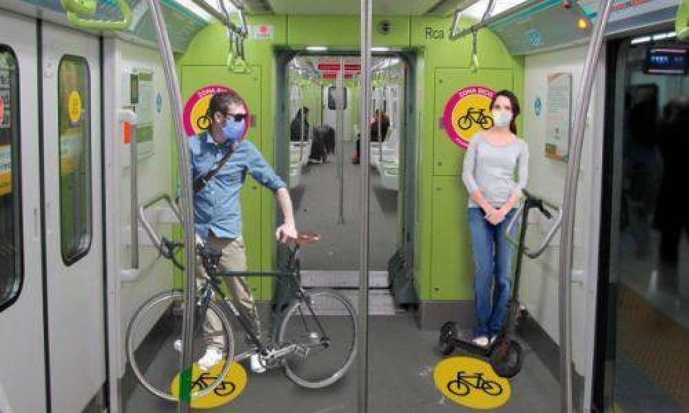 Con bicicletas y monopatines en las líneas A y H