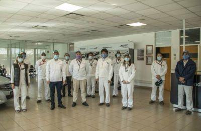 El Intendente supervisó el inicio de las operaciones en la empresa Honda