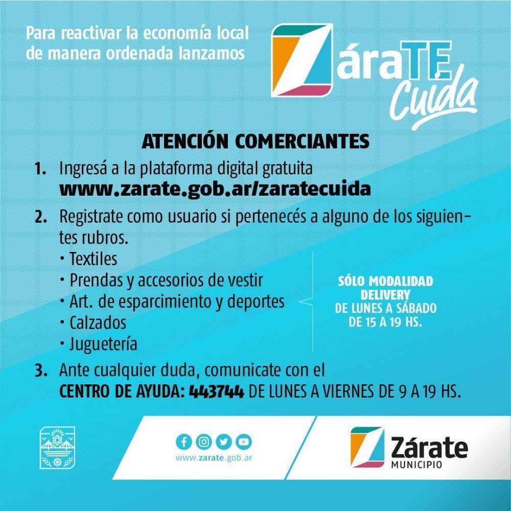 El Municipio de Zárate habilita actividad comercial en forma ordenada, a través de una plataforma web