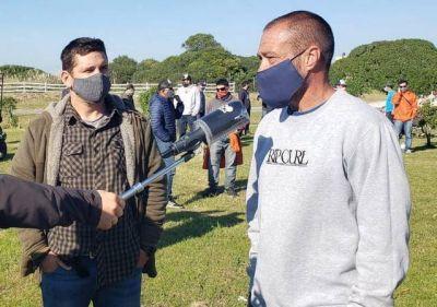Guardavidas del Sur se hicieron sentir en la Rotonda de El Faro reclamando por situación que atraviesan