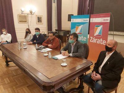 Zárate: Cáffaro presentó la nueva plataforma digital para que rubros autorizados pueden trabajar con delivery