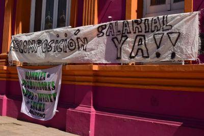 Conflicto en Moreno por denuncia de recorte de sueldos