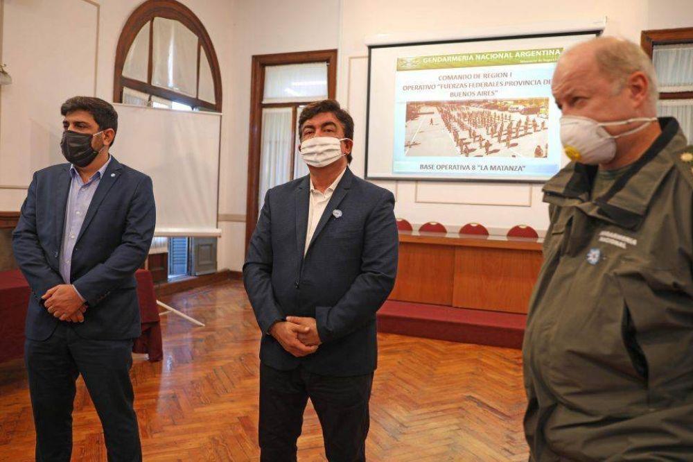 Fernando Espinoza se reunió con la Gendarmería para ampliar los controles por la cuarentena