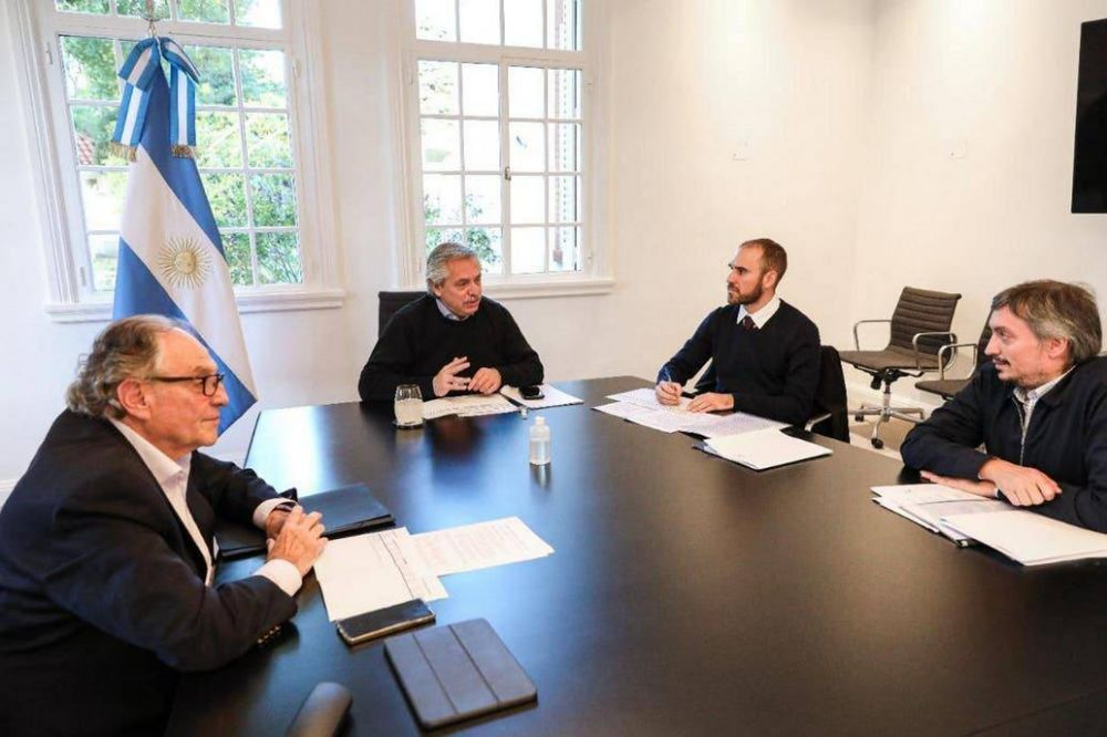 Alberto Fernández recibió a Máximo Kirchner y Carlos Heller y le dio luz verde al proyecto para gravar las grandes riquezas