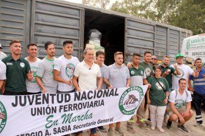 La Juventud Ferroviaria vuelve con acciones solidarias en todo el país