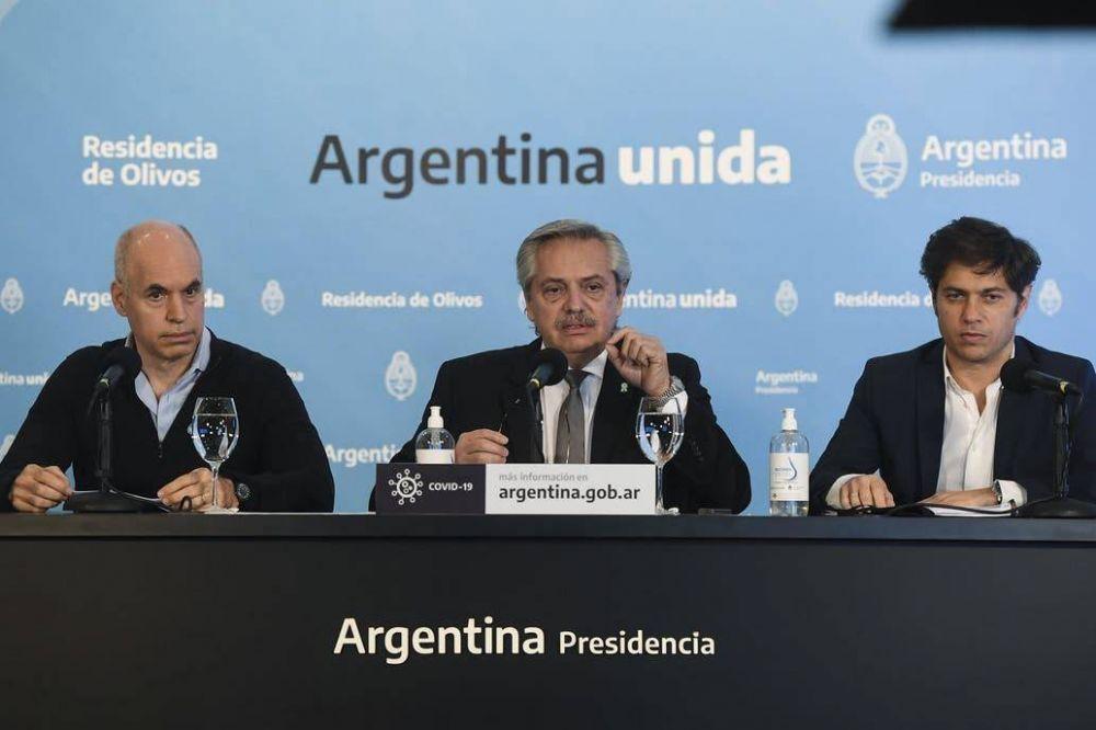 Fernández terció entre Kicillof y Larreta para cerrar la semana más difícil de la pandemia