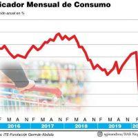 El consumo batió el récord histórico, cayó 22,4% en abril y su repunte será muy lento