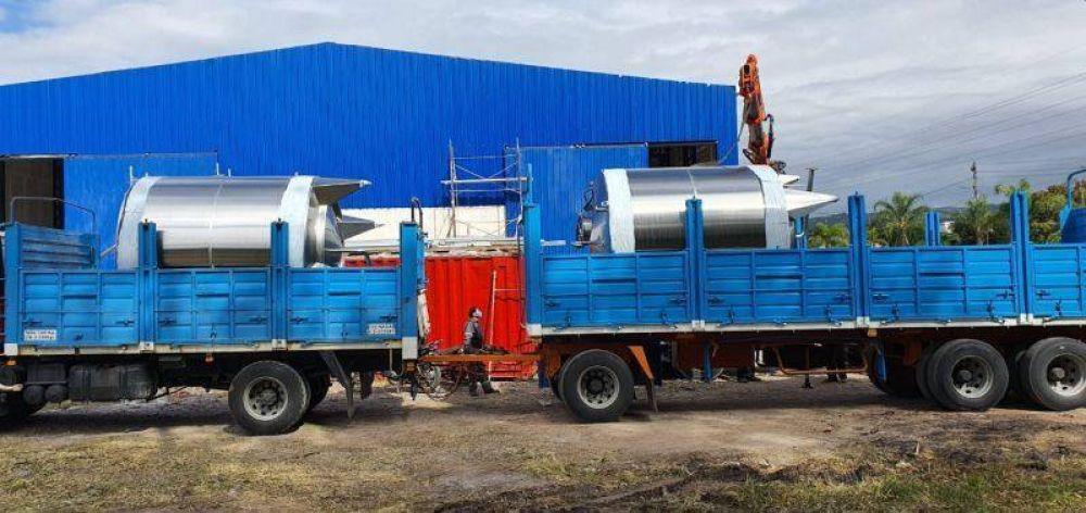 Llegó nuevo equipamiento para la planta embotelladora de Agua Potable de Jujuy