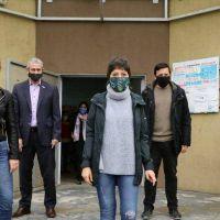 Avellaneda: Ferraresi y Mayra Mendoza recorrieron un operativo sanitario en Villa Azul