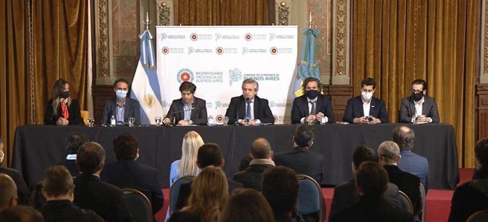 Fernández, Kicillof y Katopodis rubricaron un convenio para obras de infraestructura en municipios