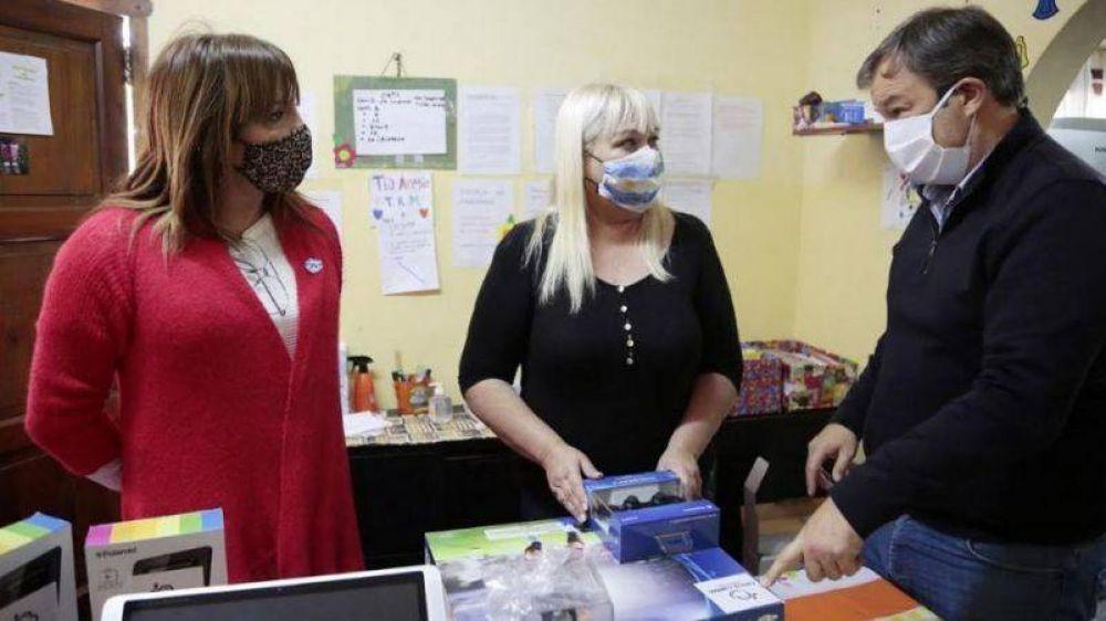 Cascallares y Lizy Tagliani realizaron visita solidaria a instituciones de Brown