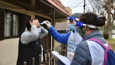 Operativos casa por casa en barrios donde confirmaron casos positivos de COVID-19