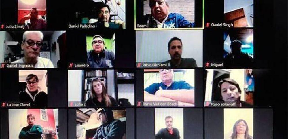 Directivos de Aecpra evalúan la situación laboral a través de videoconferencias con los trabajadores