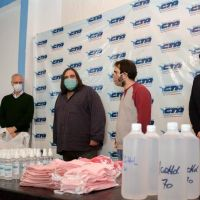 La CTA de los Trabajadores bonaerense elaboró alcohol y barbijos para comedores comunitarios