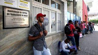 El desempleo en Brasil sube hasta 12,6% y afecta a casi 13 millones de personas