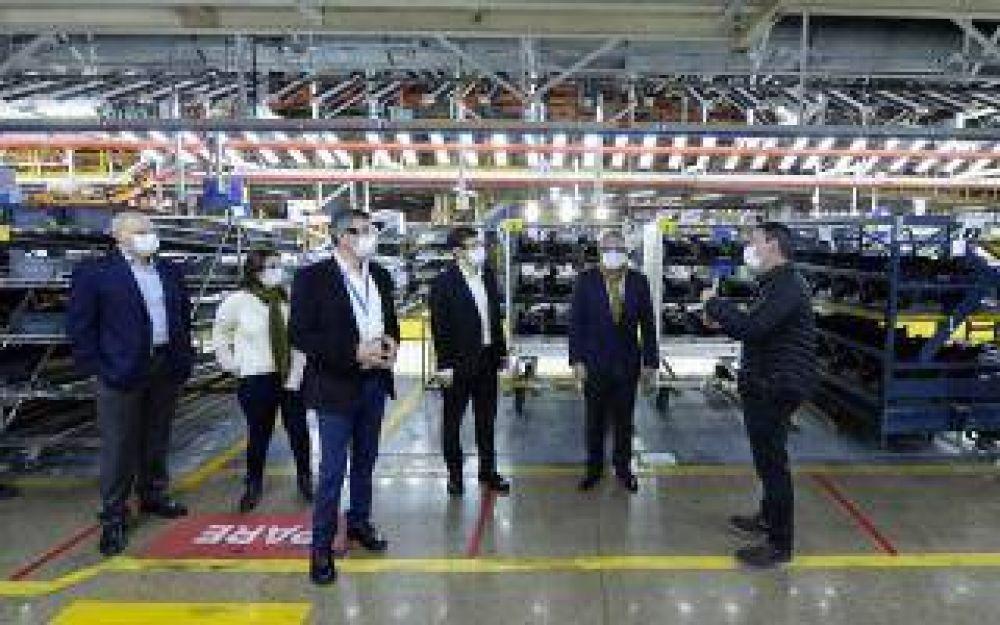 Tigre: Julio Zamora y Augusto Costa recorrieron la fábrica Ford en General Pacheco