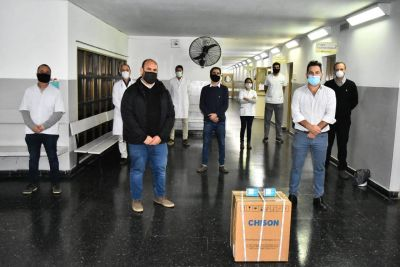 El Hospital de Baradero recibió un ecógrafo portátil y dos oxímetros