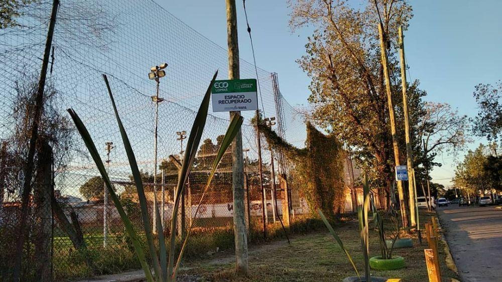 Eco Lomas: recuperaron una esquina donde había basura; ahora hay plantas