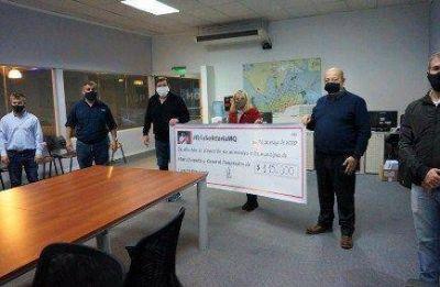Mar Chiquita y General Pueyrredon recibirán $1.150.000 a través de la rifa de Lucas Martínez Quarta