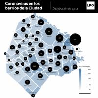 Mapa de la epidemia: ya hay casos de coronavirus en todos los barrios de la Ciudad
