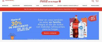 Sin intermediarios Coca-Cola se sumó al Hot Sale gracias a su servicio a domicilio