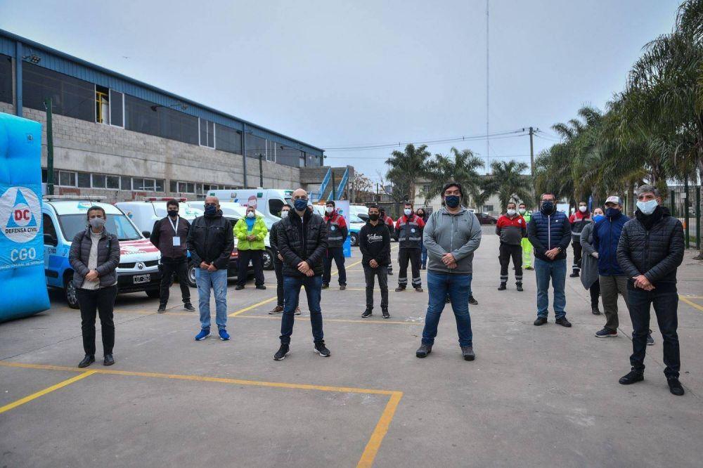 Comenzó a funcionar una base operativa municipal en el barrio Lambertuchi que brinda contención social a los vecinos frente al COVID-19