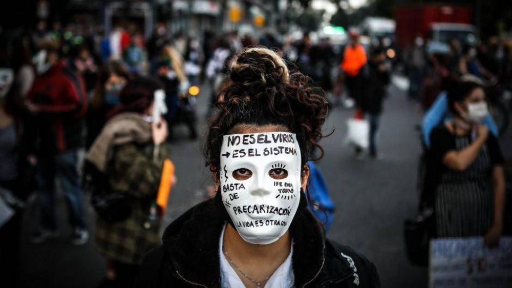Incidentes en el Obelisco en una marcha para reclamar el fin de la cuarentena