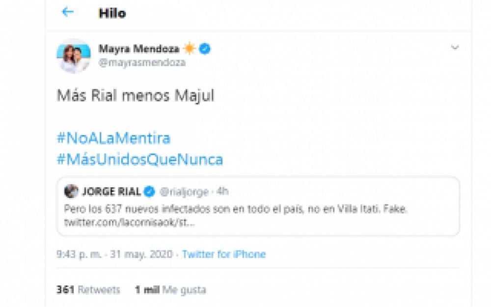 Coronavirus en Quilmes: Mayra Mendoza salió con los tapones de punta contra el programa