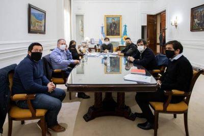 Codo a codo: Kicillof se reunió con intendentes de la primera sección