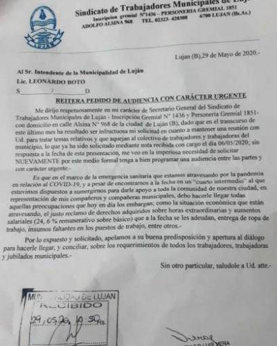 El Sindicato de Trabajadores Municipales pidió una reunión con el Intendente