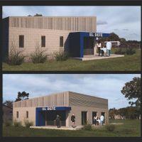 El intendente Jorge Paredi recorrió el inicio de la construcción de la sede de El Defe de Vivoratá