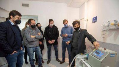 Kicillof y Maggiotti recorrieron el nuevo Hospital Respiratorio de Navarro