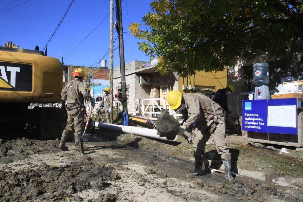AySA finalizó una obra cloacal que beneficiará a 8.000 vecinos y vecinas de Lomas de Zamora