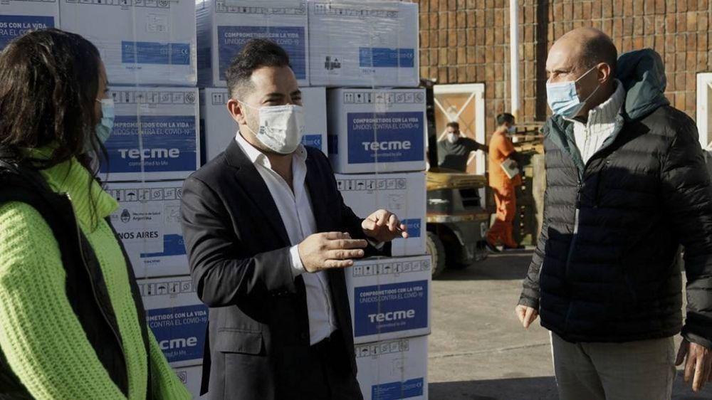 El Ministerio de Salud entregó más de 150 respiradores para hospitales bonaerenses