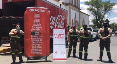 Trabajadores de Coca-cola dieron insumos a estudiantes de enfermería