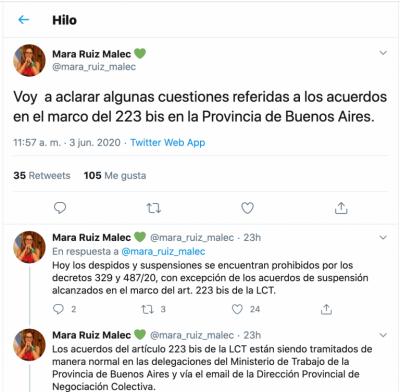 Mara Ruiz Malec detalló cómo se tramitan las suspensiones