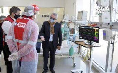 Tigre: Zamora presentó diez nuevos respiradores para el Hospital Municipal de Benavídez