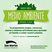 Con una amplia agenda virtual, San Martín celebra el Mes del Medio Ambiente