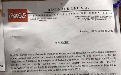 Coca Cola se incorporó al ATP y el Estado pagará una porción de sus salarios