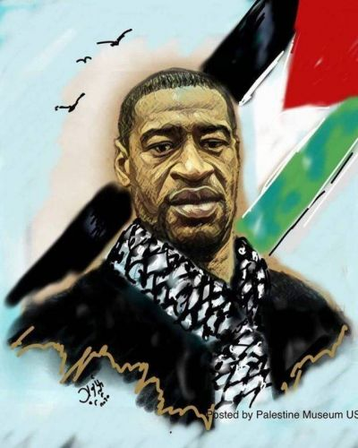 Fuerte rechazo de la comunidad judía norteamericana por una publicación que muestra a George Floyd con la bandera palestina