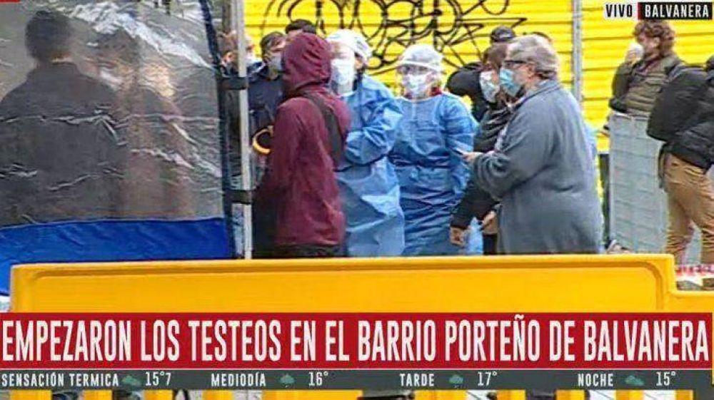 Empezaron los testeos en Balvanera, el barrio porteño con un pico reciente de coronavirus