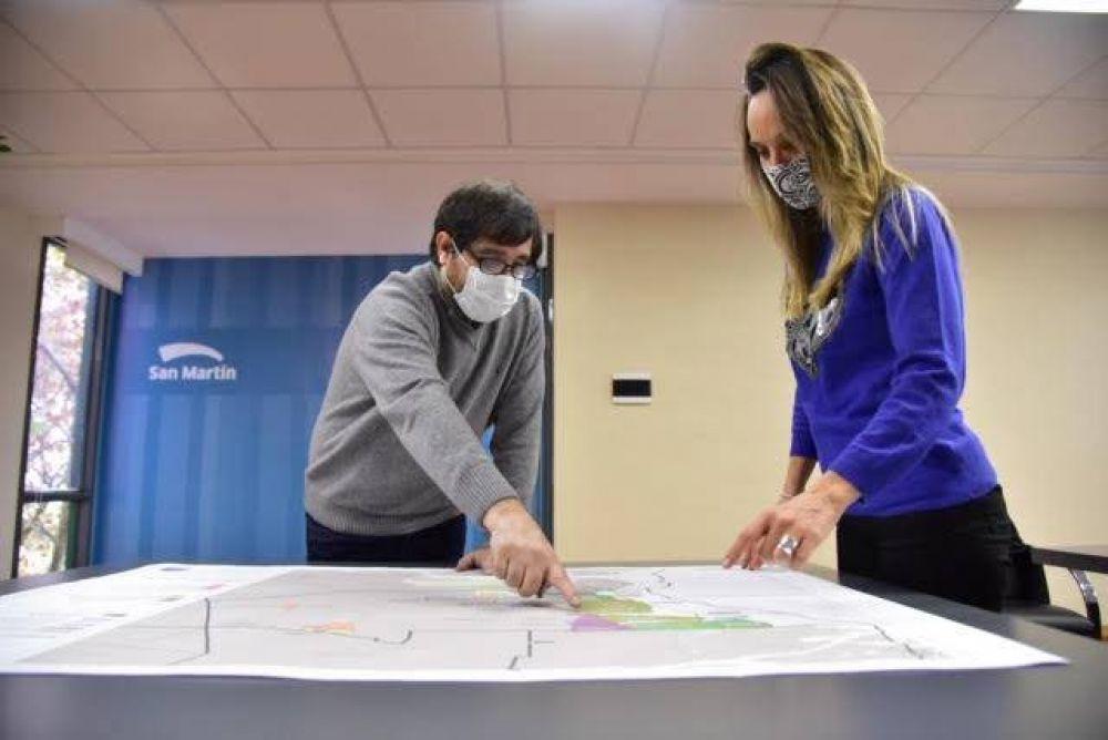 Fernando Moreira y Malena Galmarini firmaron convenios para la expansión de las redes de agua y cloacas en San Martín